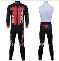 High Quality Best Selling 2011 Castelli Autumn Cycling Jersey+Bib Pant Set/Bicycle Wear/Biking Jersey/Cycle Pants