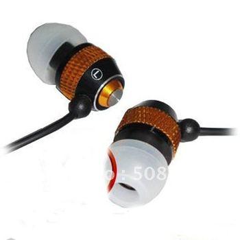10pcs/lot Metal Earphone For ipod MP3 MP4 Super Bass Sound Isolating Metal Studio headphones 3.5mm jack In Ear Earphone