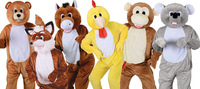 Adults Big Head Deluxe Mascot Fancy Dress Costume Animal Jumbo Onesie One Size