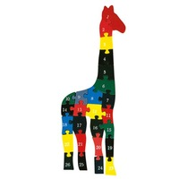 Free shipping Wooden giraffe Jigsaw Puzzle Kids numeral Learning Kit/2001