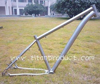 29er Titanium Mountain Bike Frame Bending Down Tube/Eccentric Bottom Bracket