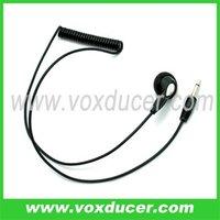 3.5mm plug  listen only headset for shoulder mic