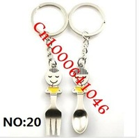 "Cute couple, key chain, ""20pcs/lot=10pair/Lot"". NO: 20"