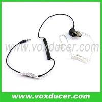 FBI style listen only 3.5mm jack acoustic tube earpiece