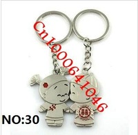 "Cute couple, key chain, ""20pcs/lot=10pair/Lot"". NO:30"
