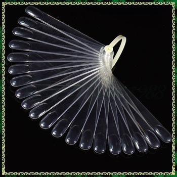 20 tips Fan-Shaped Nail Art Display Clear Chart for Polish Gel Display Tool   #1255