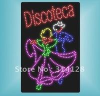 LED DISCOTECA Sign HSD0007 LED signs LED sign board free shipping