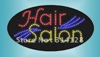 Oval LED HAIR SALON Sign LED signs LED sign board free shipping 5PCS