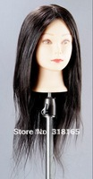 Free Shipping Apprentice Trainning 100% real Hair  Head Mannequins