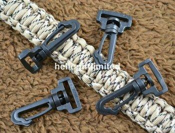 "1000pcs/lot 20mm 3/4 ""(Webbing) Toggle Clip Black Plastic Backpack Buckles Rotating Hook Bag Parts & Accessories 082-20#"