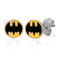 8mm Bat  ear stud earring surgical steel body jewelry CR028