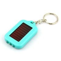 Free shipping New 3 LED Mini Solar Power Flashlight Torch Keychain