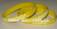 customized non-toxic Engrave Silicone Bangle with Low price