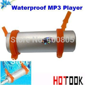Sport water resistance IPX8 4GB waterproof mp3 player swimming FM can be used when swimming diving surfing  - - free shipping