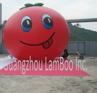 HOT Sale Lovely Cute Inflatable Tomato Helium Balloon for Promotion with Its special Smile/Free Shipping