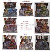 Wholesale - 8 Styles Clash Metal 4D Beyblades, Beyblade BB105 BB106 BB108 BB109 BB111 BB114 BB117