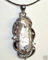 wholesale --------White Wedding Freshwater Pearl Pendant necklace