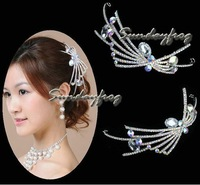 Fast Free Shipping! Gorgeous Alloy With Austria Rhinestones Wedding Bridal Tiara/ Combs/ Headpiece -HG648