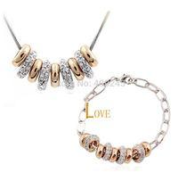 free shipping white gold cheap costume jewelry set,TZ-0101092,hoop bracelet