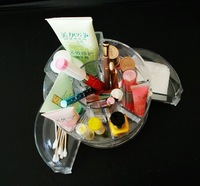 {free shipping}clear acrylic makeup organizer display