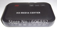 free shipping wholesale, mini 1080P full HD Media player, support Blueray hdmi, vga, mkv hdd media