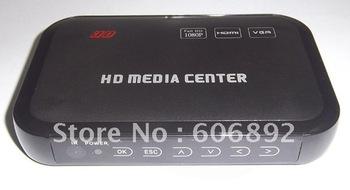 free shipping wholesale, mini 1080P full HD Media player, support Blueray hdmi, vga, mkv hdd media