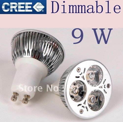 MR16 3x3w 9w LED Light CREE Dimmable High power Bulb downlight Spot