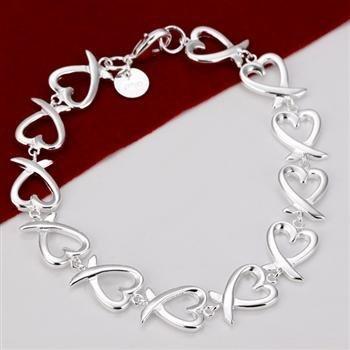 Wholesale&retail Free shipping fashion silver pretty kelp knot chain bracelet fashion silver  bracelet fashion jewelry TCB232