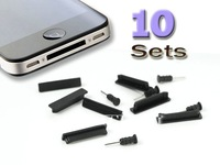 Free Shipping 10 Kits Anti-dust Dock Block Plug Stopper SET For iPod Touch iPhone4 4G 4S 3G 3GS IPAD1/2
