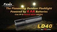 Fenix LD40 XP-G Neutral White LED R4 248 Lumen 4*AA Battery Waterproof Flashlight LED flashlights torches