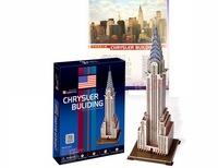 Free shipping, Chrysler Building DIY 3D three-dimensional puzzle, 3d puzzle,world's great architecture, wholesale price