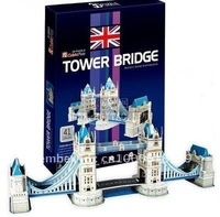Free shipping, Tower Bridge DIY 3D three-dimensional puzzle, 3d puzzle,world's great architecture, wholesale price