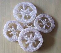 250pcs/lot  Natural Loofah Luffa Loofa  Slices Chew toys Bath Shower Sponge Scrubber