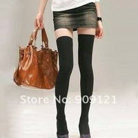 So Hot ! 20 pair/lot  22 Inches Long Japanese Solid Black Thigh High Socks  Over Knee Socks Leg Warmers