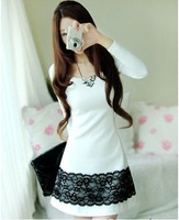 Top quality,Graceful Lady's Lace Decoration Dress,Women Casual Tops#6101