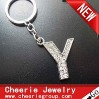 Zinc alloy Letter keyring with top quality plating, 50pcs/lot, free shipping(CK0109)