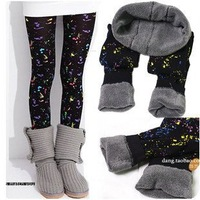 Free shipping-Winter leggings /warm leggings fleece and Bamboo charcoal material print colorful fashion 1pc/lot -high quality