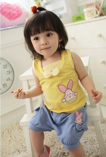 Free shipping Wholesale summer birthday gift  baby girl clothes sets 4set/lots in stock