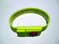 Buckled Bracelet USB flash driver with logo printing & WaterProof