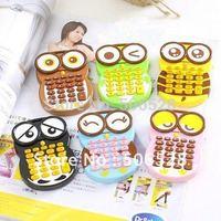 Free Shipping 4PCS/Lot Cartoon Owl Mini Calculator;Gift Calculator;Pocket Calculator;School Stationery;Office Stationery