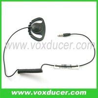Ear hook Earpiece with D shape soft rubber earbud 2.5mm plug