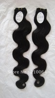 wholesale 3pcs/lot body wave 100g 14inch-22inch Peruvian  Virgin hair  extension AAA quality free shipping