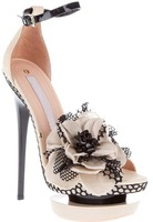 2012 Women's Fashion Flower Mesh Ankle Strap Platform Stilletto High Heel Sandals Shoes Freeshipping Size US 4.5-9.5 (H188)
