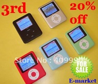 HK POST Free Shipping,5pcs/lot High Quality 8GB 3rd 1.8 inch Screen Button 3Gen mp3 mp4 player,Wholesale