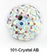 Latest Shamballa Beads White AB Gem Pave Crystal Round Ball Wholesale Beads Size 10mm White AB Free Shipping S001AB