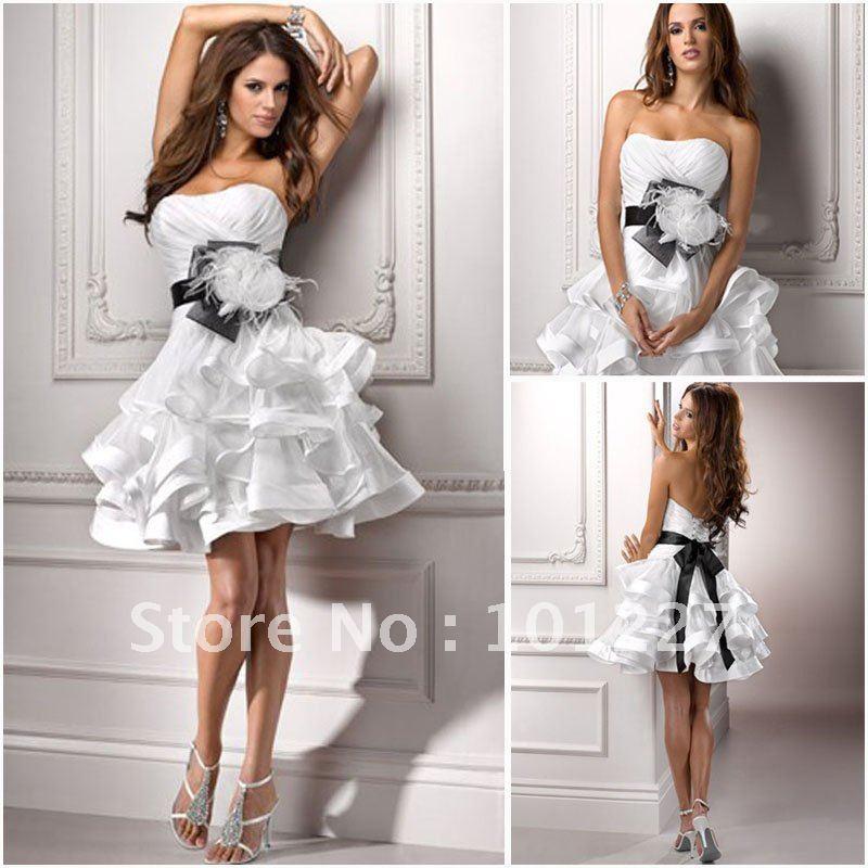 Short mini wedding dress