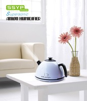 18pcs/ctn wholesale Novelty Gift Kettle Humidifier SYYP Mini Anion Ultrasonic Air Humidifier white red yellow 220V