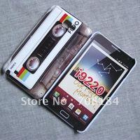 10pcs Cassette Tape Hard Back Case for Samsung Galaxy Note i9220 N7000 Hard Case Cover For i9220