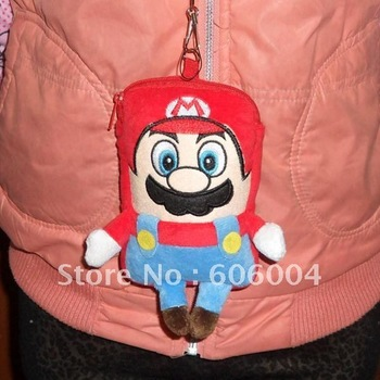 Free Shipping  New Super Mario Bros Pouch Mobile Cell Phone MP3 Case Coin bag Wholesale and Retail