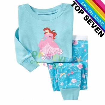 2013 New Arrive Little Kids PRINCESS Cartoon Pajamas Suits Baby Girls
